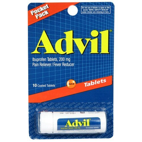 Advil Ibuprofen Tablets - 10 Coated Tablets