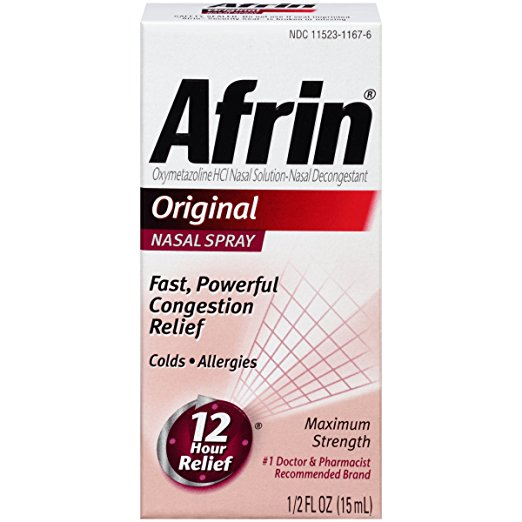 Afrin Original Nasal Spray - 1/2 Fl Oz (15 mL)