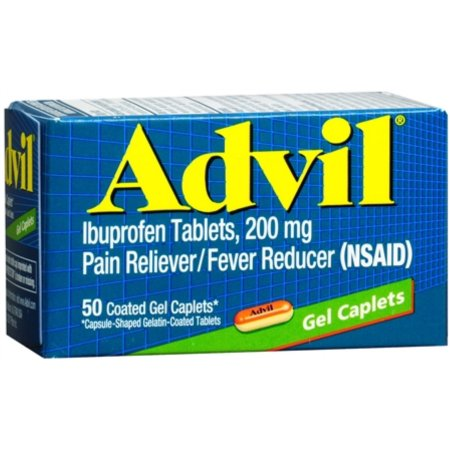 Advil Ibuprofen 200 mg - 50 Coated Gel Caplets