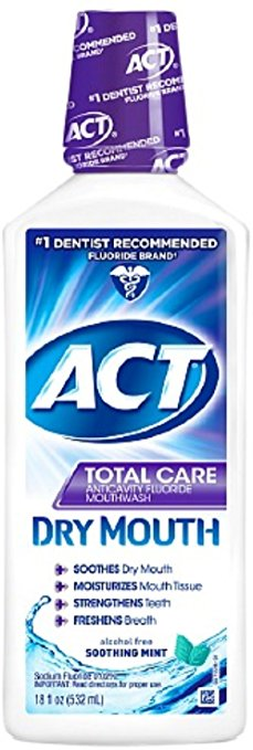 ACT Total Care Anticavity Fluoride Mouthwash Dry Mouth Soothing Mint - 18 Fl Oz (532 mL)