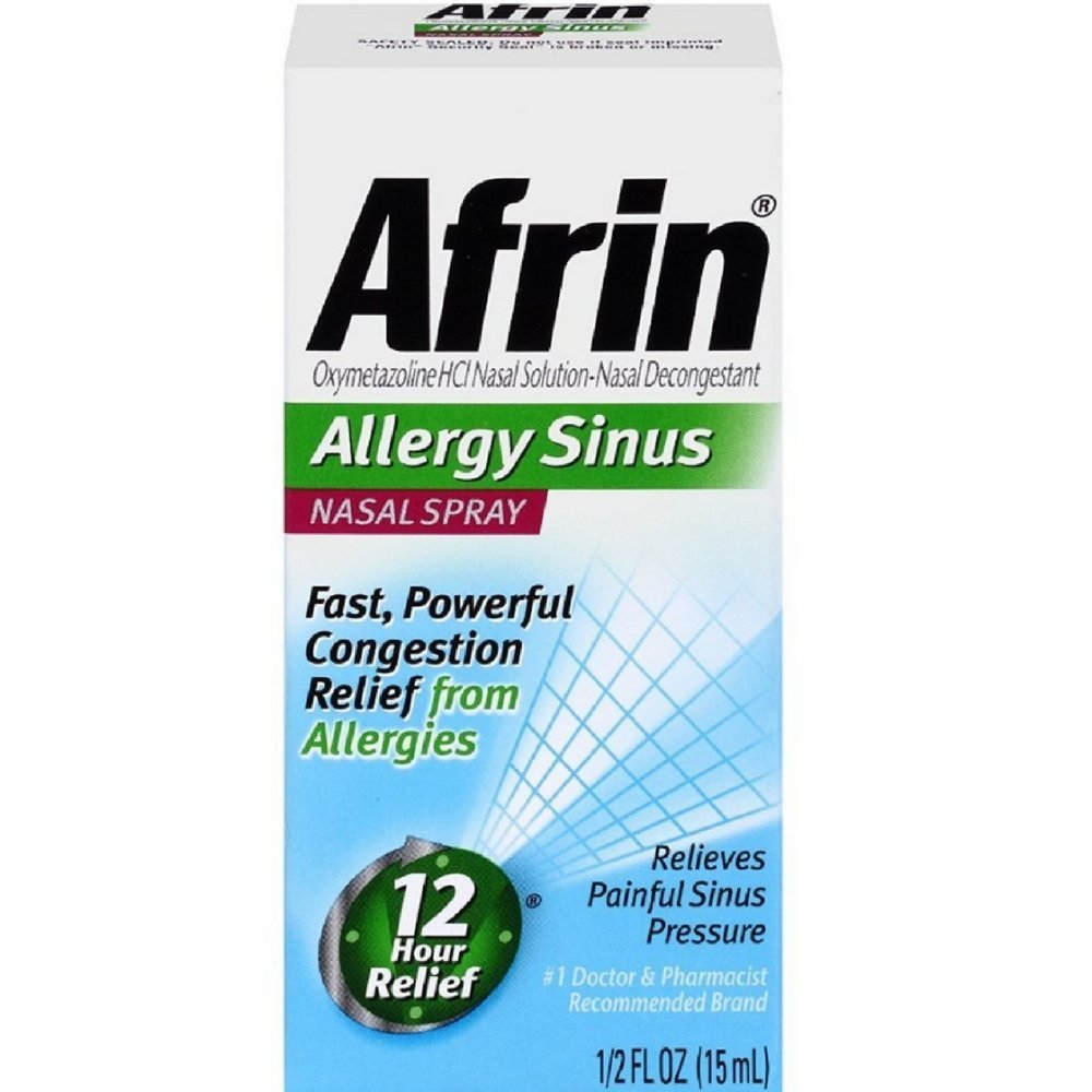 Afrin Allergy Sinus Nasal Spray - 1/2 Fl Oz (15 mL)
