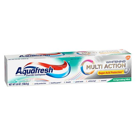 Aquafresh Multi Action Whitening Invigorating Mint Toothpaste - 5.6 Oz (158.8 g)