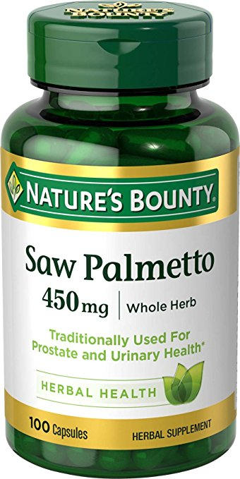 Nature's Bounty Saw Palmetto 450 mg | Whole Herb - 100 Capsules