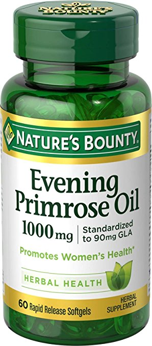Nature's Bounty Evening Primrose Oil 1,000 mg - 60 Rapid Release Softgels