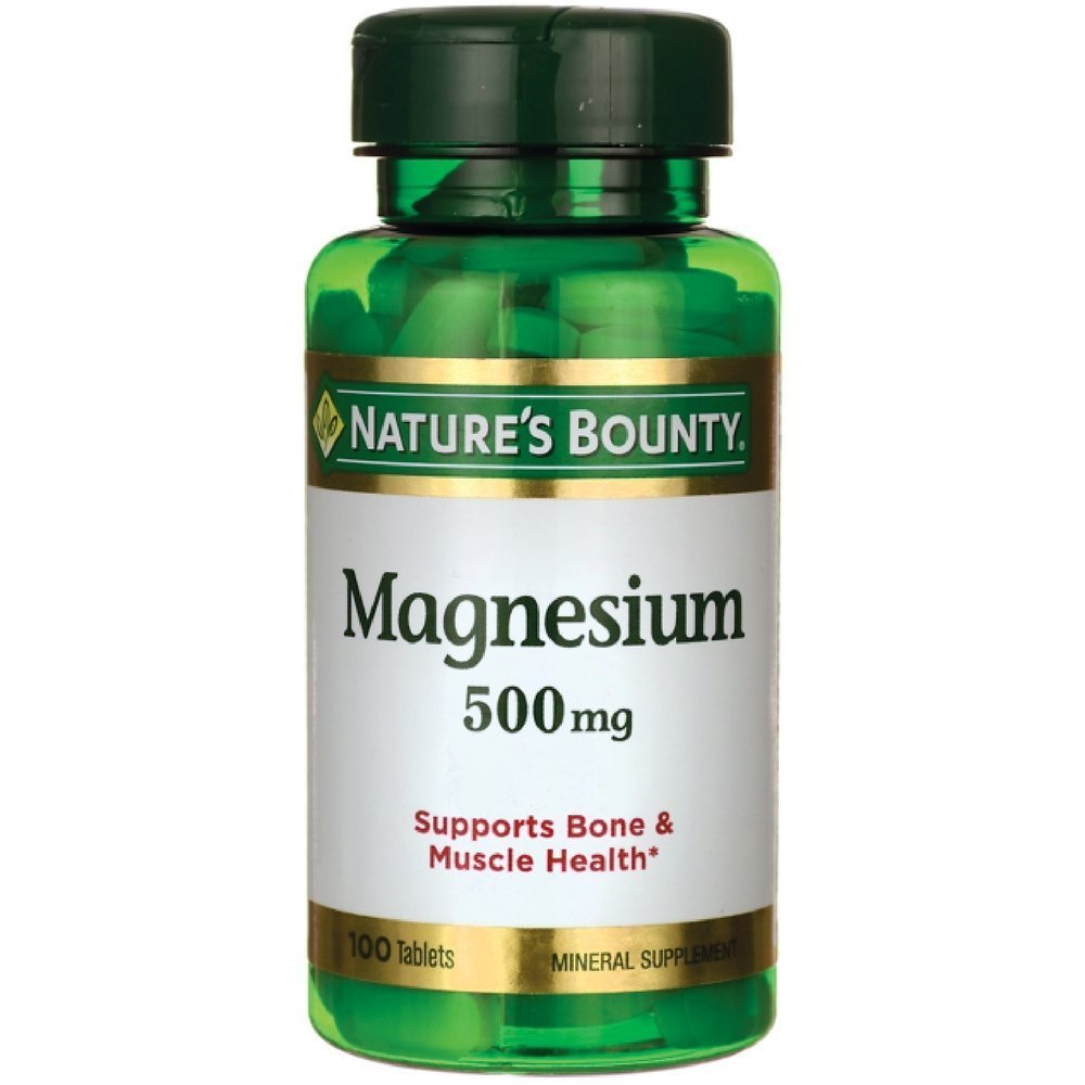 Nature's Bounty Magnesium 500 mg - 100 Coated Tablets