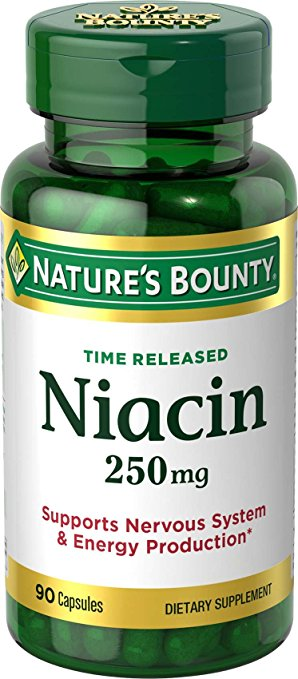 Nature's Bounty Time Released Niacin 250 mg - 90 Capsules