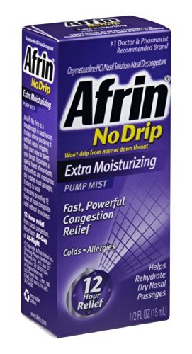 Afrin No Drip Extra Moisturizing Pump Mist - 1/2 Fl Oz (15 mL)