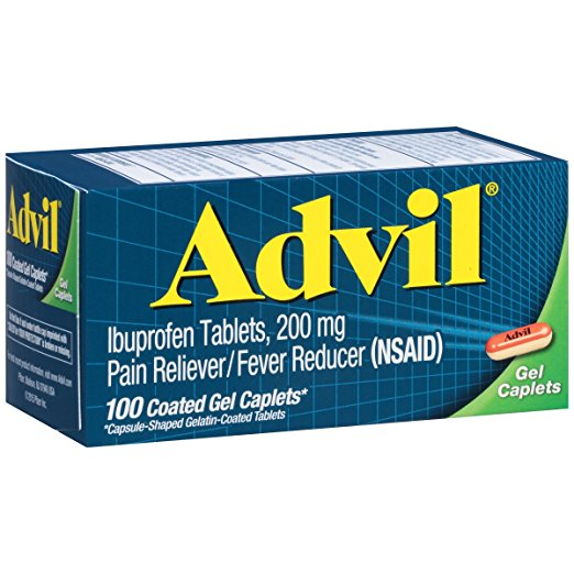 Advil (Ibuprofen 200 mg) - 100 Coated Gel Caplets