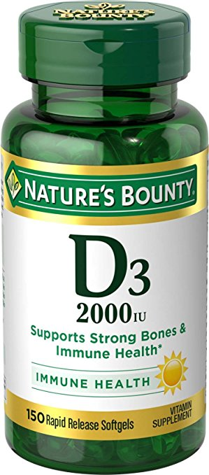 Nature's Bounty Vitamin D3 2000 IU - 150 Rapid Release Softgels