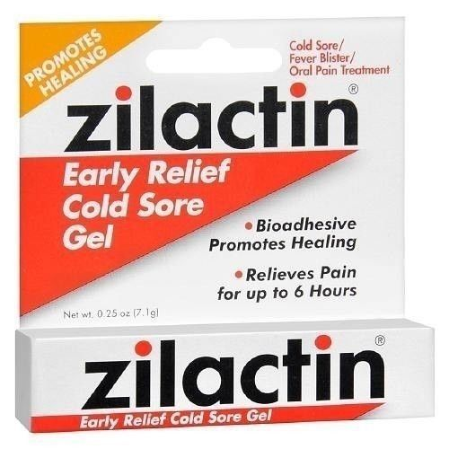 Zilactin Early Relief Cold Sore Gel - 0.2 Oz (7.1 g)