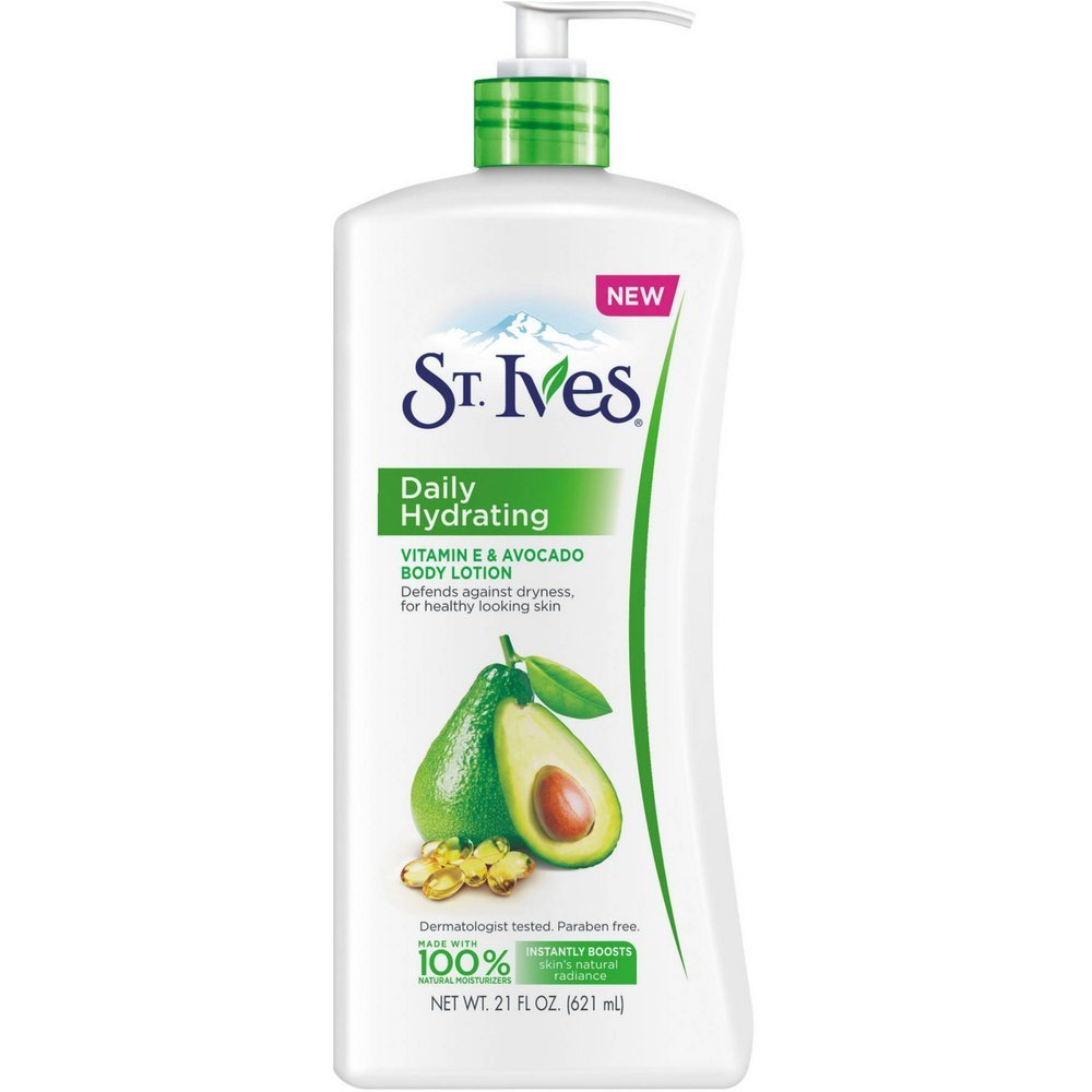 St. Ives Daily Hydrating Vitamin E & Avocado Body Lotion - 21 Fl Oz (621 mL)