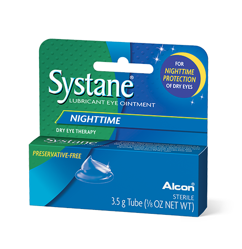 Systane Nighttime Lubricant Eye Ointment Overnight Relief - 3.5 g Tube (1/8 Oz Net Wt)