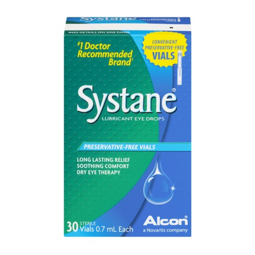 Systane Preservative-Free Vials Lubricant Eye Drops - 30 Sterile Vials 0.7 mL Each