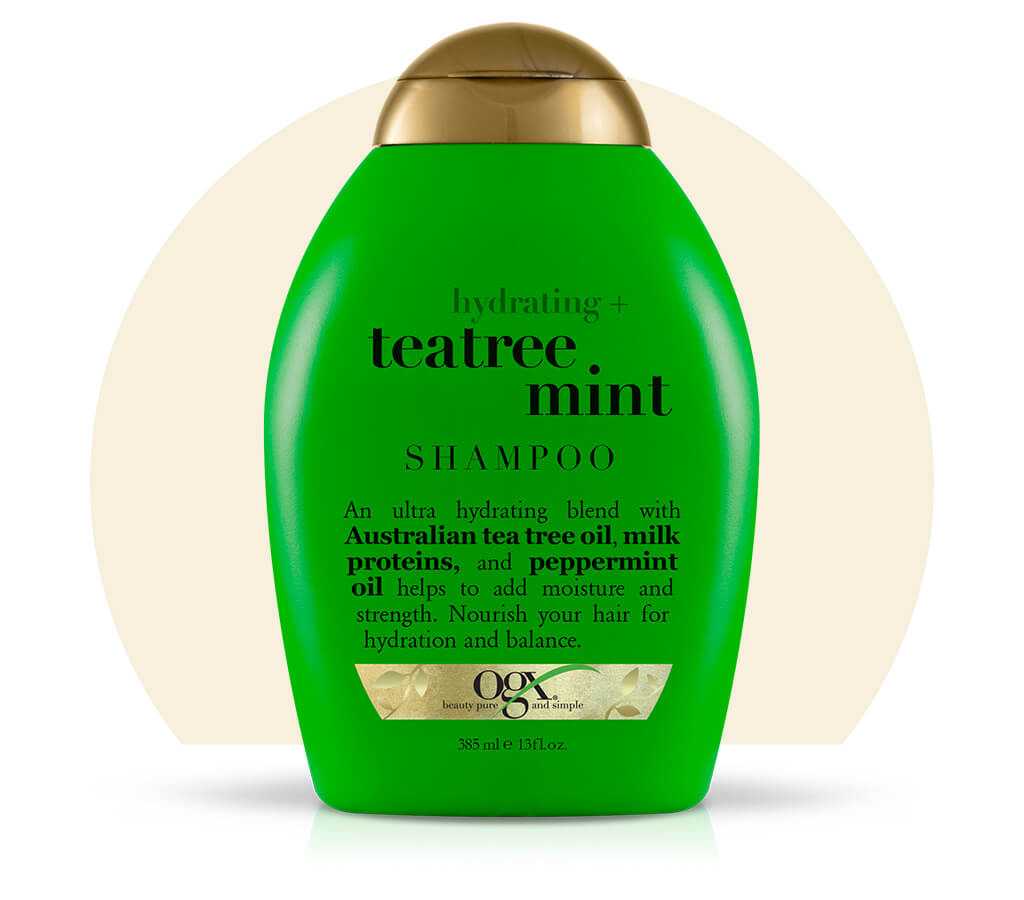 Organix (OGX) Hydrating + Teatree Mint Shampoo - 13 Fl Oz (385 mL)