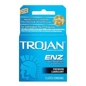 Trojan ENZ Lubricated Condoms - 3 CT