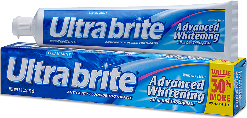 Ultra Brite Advanced Whitening Clean Mint All In One Toothpaste - 6.0 Oz (170 g)