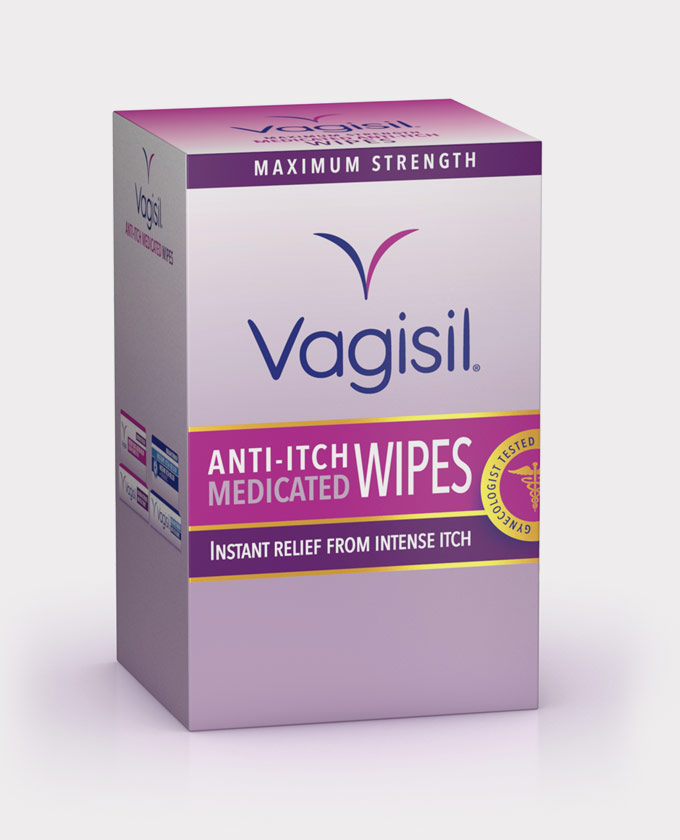 Vagisil Maximum Strength Anti-Itch Medicated Wipes - 12 Individually Wrapped Disposable Wipes